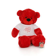 valentines day teddy bears 5ft size teddy wearing happy s day shirt