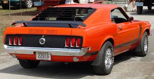 ford mustang 351 1970 ford mustang fastback custom 351 rear angle