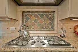 kitchen stunning natural stone mural with frame for kitchen