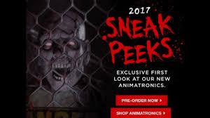 spirit halloween 2017 sneak peeks 2 ft fogging basement doors