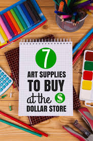 7 dollar store art supplies to buy and a few to avoid art