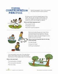 printable reading comprehension test reading comprehension practice test worksheet education com