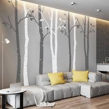 amazon com n sunforest 8ft white birch tree vinyl wall decals amazon com n sunforest 8ft white birch tree vinyl wall decals nursery forest family tree wall stickers art decor murals set of 8 home improvement