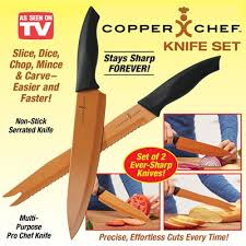 sharp kitchen knives copper chef kitchen knives set of 2 from collections etc