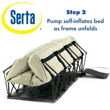 amazon com serta ez air mattress with never flat pump sports