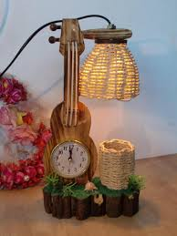 lovely artwork wooden table lamp ideas having hanging woven shade