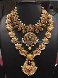antique necklace chain images Peacock long chain by bhavani jewellers jewellery designs jpg