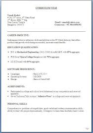 Education Qualification Format In Resume It Resume Formats Botbuzz Co
