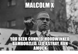 Malcolm X Memes - malcolm x you been conned hoodwinked bamboozled ledastray run amuck