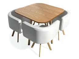 table ronde avec chaises table et chaise encastrable table ronde avec chaises encastrables
