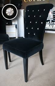 black velvet rolltop dining chair crystal buttons buy from the