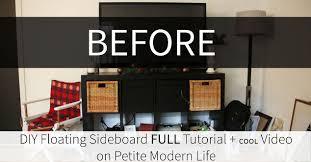 Entertainment Center Credenza Diy Floating Sideboard Credenza Hometalk
