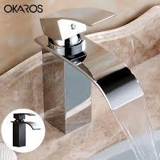 Online Get Cheap Waterfall Bathroom Faucet Aliexpresscom - Bathroom basin faucets