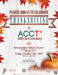 the acct s 45th anniversary and thanksgiving dinner acct