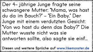 baby sprüche der 4 jährige junge fragte seine schwangere mutter was