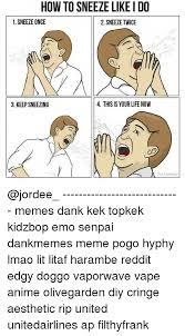 Sneeze Meme - how to sneeze like i do 1 sneeze once 2 sneeze twice 3 keep