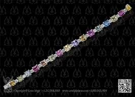 colored tennis bracelet images B5342 leon meg pastel colored sapphire and asscher cut diamond jpg