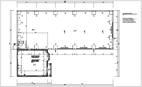 foundation floor plan view of floor plan with construction detail dwg file