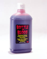 spirit halloween langhorne bottle of blood 1 pint accessories u0026 makeup