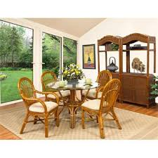 wicker rattan dining room tables homeclick