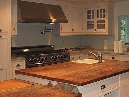 Wooden Kitchen Countertops by Reclaimed Wood Countertops Antique Woodworks