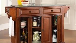 crosley furniture cambridge solid granite top portable kitchen