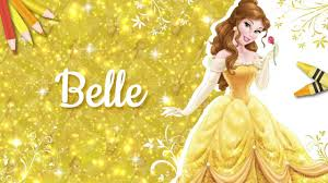 disney princess belle coloring page youtube