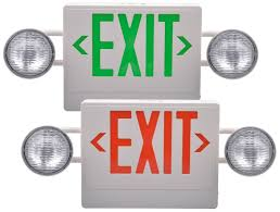 exit emergency light combo lx 7604g r ul exit sign emergency light combo