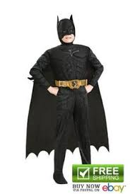 Batman Halloween Costume Captain America Movie Classic Muscle Superhero Costumes Boys Kids