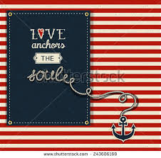 Quot Love Anchors The Soul - love anchors soul inspirational quote valentines stock vector