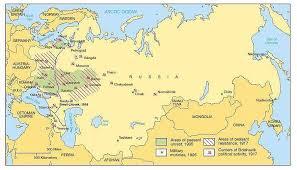 russia in maps russian revolution maps