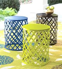 small outdoor accent tables good small patio side table for brown all weather wicker patio round