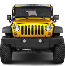 jeep grill logo angry jwm 4x4 billet grille insert for jeep wrangler jk 2007 2017