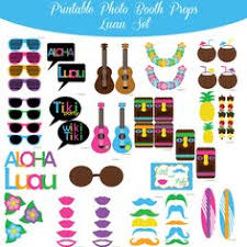 Photo Booth Props For Sale Luau Photo Booth Props Hawaiian Luau Beach Party Tropical