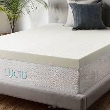 Ventilated Mattress Pad Amazon Com Lucid 4 Inch Ventilated Memory Foam Mattress Topper