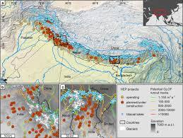 Himalayan Mountains Map Uncertainty In The Himalayan Energy U2013water Nexus Estimating
