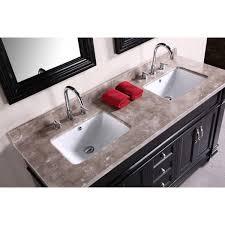 Double Bathroom Vanity 60 Design Element Dec059c Hudson 60 Inch Double Sink Bathroom Vanity Set