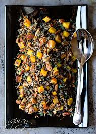 forbidden rice with acorn squash and pecans