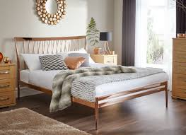 Wooden Bedroom Design Bedroom Somerset Oak Wooden Bed Frame Light Wood With Headboard