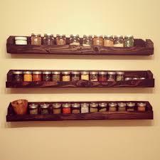 pallet and mason jar spice rack inside kitchen pinterest