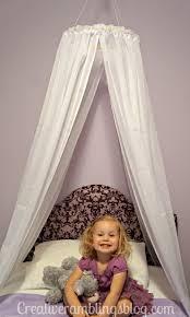 Diy Canopy Bed With Lights Easy Diy Princess Canopy Creative Ramblings