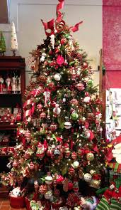 christmas tree with red and black decorations the most inspiring