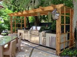 small outdoor kitchen gazebo pergola ideas built in bbq grill
