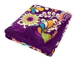 vera bradley home decor vera bradley throw blanket in plum crazy new verabradley check