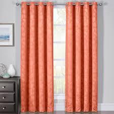 Coral Blackout Curtains 100 Blackout Curtain Panels Fannie Woven Jacquard Pass