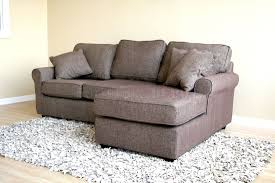 Fabric Sectional Sofas With Chaise Small Sectional Sofa In Brown Fabric Andrea Outloud
