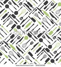 food drink icons pattern vector illustration stock vector