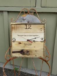 Personalized Anniversary Clock Wedding Clock Anniversary Clock Rustic Home Decor Reclaimed