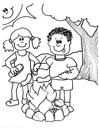 camping coloring pages kids