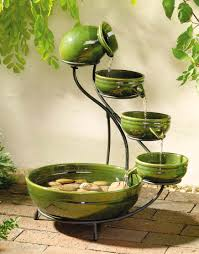 decorative water fountains for home handsome picture of 5 level round green porcelain pot decorative